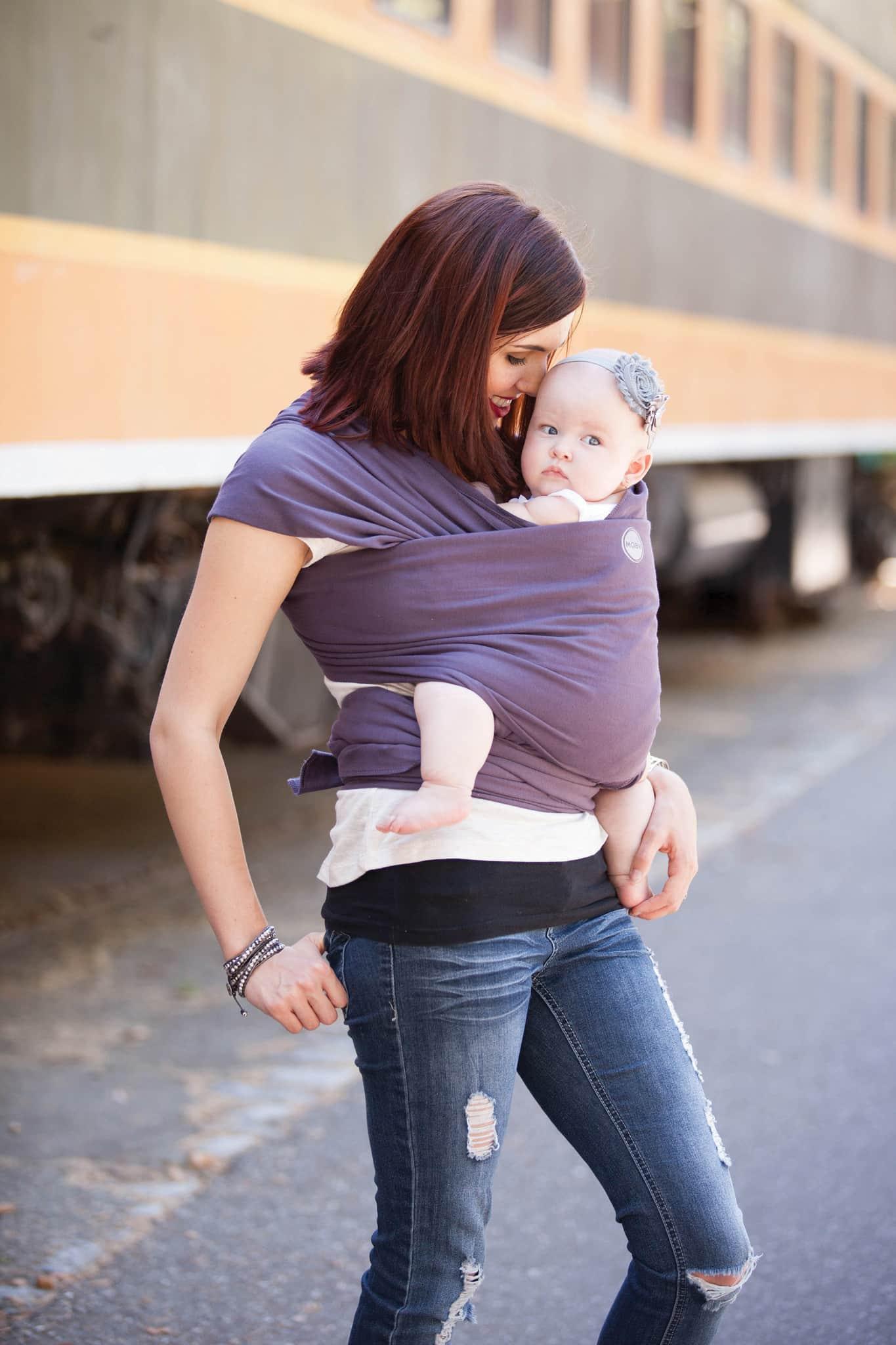 MOBY økologisk strækvikle til din nyfødte baby - SnegleHuset.com