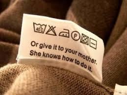 Vaskeinstruktion - tjek altid den påsyede instruktion