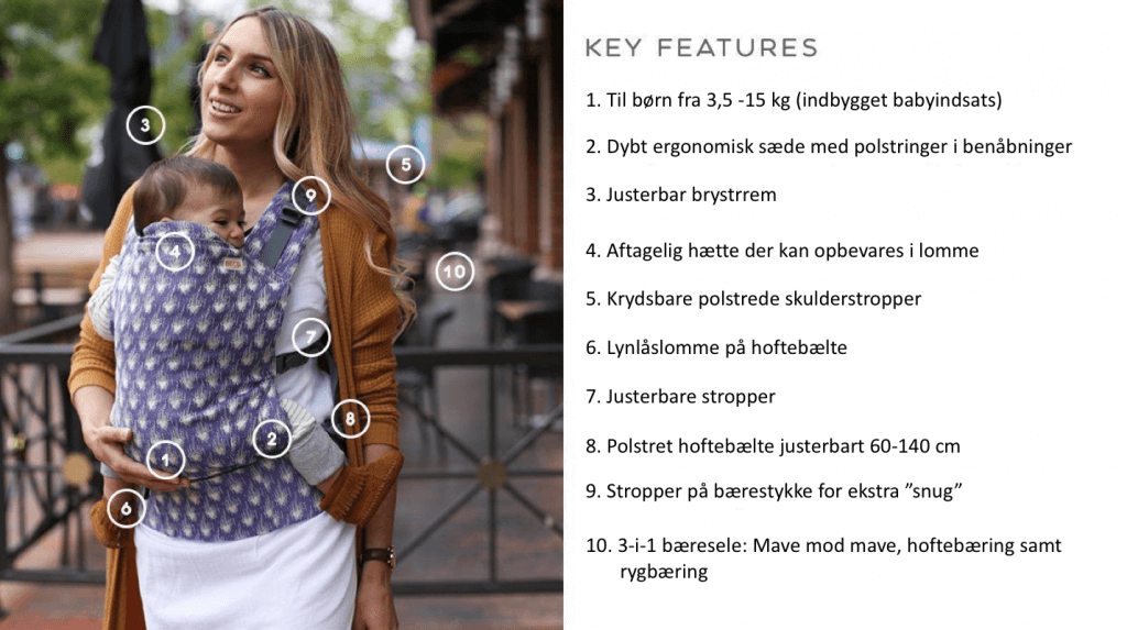 BECO ergonomisk bæresele features